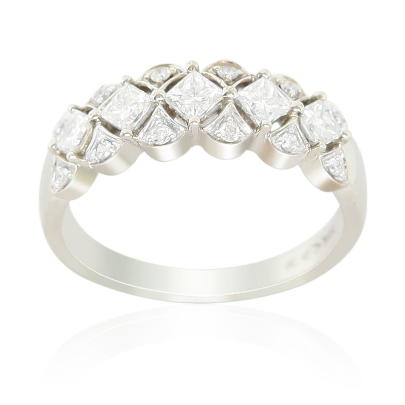 18ct white gold dress ring petermichaelsonjewellery