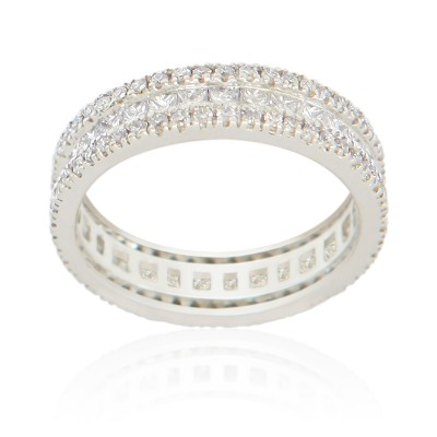Princess & Round Diam Ring