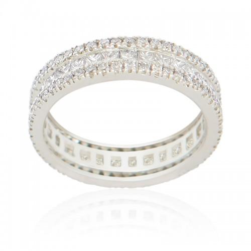 Princess & Round Diam Ring