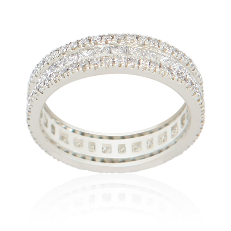 18ct white gold dress ring set approx