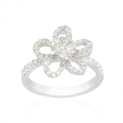 18ct Diamond Bow Style Cluster Ring