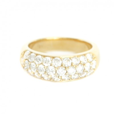18ct YG Pave Diamond Ring