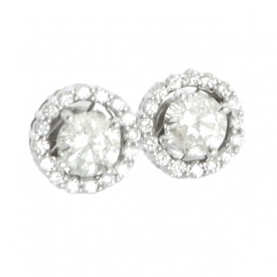 18ct white gold .65ct each Diamond Studs