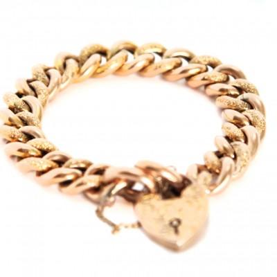 9ct Victorian curb bracelet circa 1890