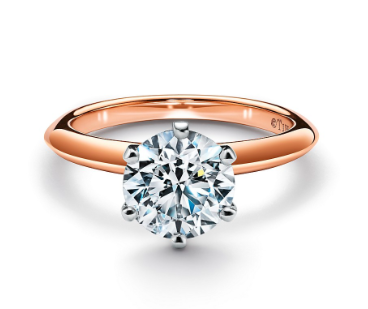 Tiffany & Co Rose & Plar ring 0.70ctgvvs2